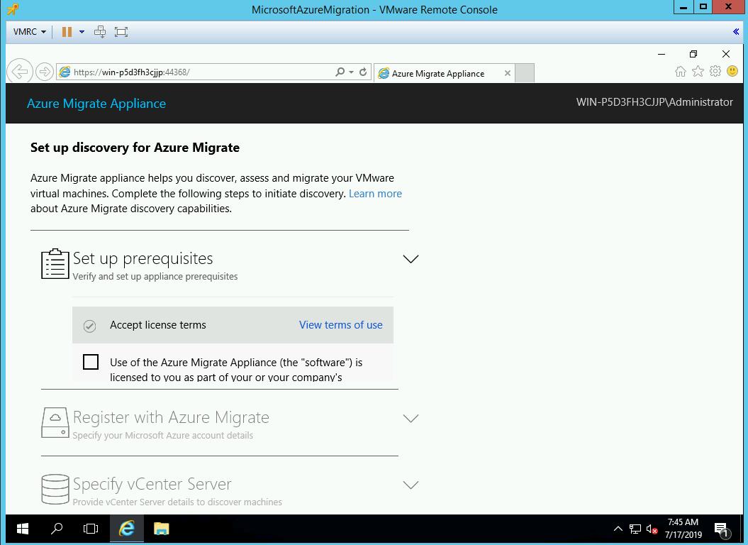 Deploy Appliance Azure Migration _10_11