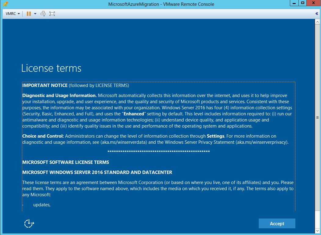 Deploy Appliance Azure Migration _10_9
